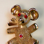 REDUCED Teddy Bear Pendant and Pin Combination