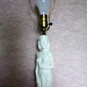 REDUCED Art Nouveau Statue of Lady ~ Figural Lamp