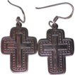 Sterling Silver Cross Pierced Earrings