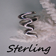 REDUCED Snake Ring in Sterling Silver ~ Size 6