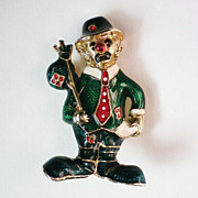REDUCED Enameled Clown Pin
