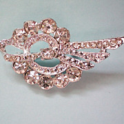 REDUCED Dazzling Clear Rhinestone Brooch