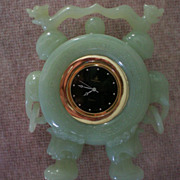 REDUCED Carved Chinese Jade Dragon, Elephant Clock