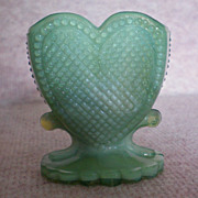 REDUCED Heart Glass Toothpick Holder by Boyd
