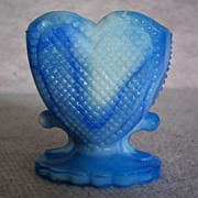 REDUCED Boyd Glass Heart Toothpick Holder