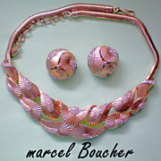 REDUCED Marcel Boucher Necklace and Earrings in Original Box