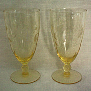 REDUCED Lancaster Jubilee Depression Ice Tea Glass or Water Goblet