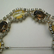 REDUCED Citrine Moon Glow & Amber colored Rhinestone Bracelet