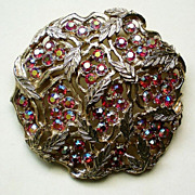 REDUCED Sarah Coventry HUGE Aurora Borealis  Brooch
