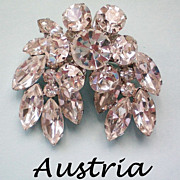 REDUCED Austrian Crystal Double Layer Brooch / Pendant