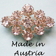 REDUCED Foil Backed Austrian Crystal Brooch