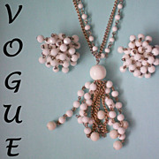 REDUCED Vogue Flapper Necklace & Cha Cha Earrings