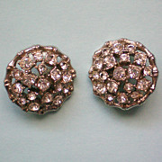 REDUCED Two Round Rhinestone Buttons