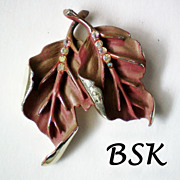 SALE BSK Autumn Leaves Brooch