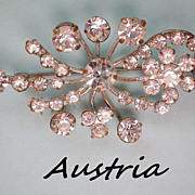 REDUCED Austrian Crystal Floral Brooch