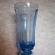 SALE Indiana Glass Blue Vase / Urn