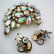 REDUCED Kramer Earrings & matching Brooch
