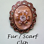SALE Scarf or Fur Clip marked Germany