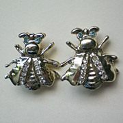 SALE Pair of Fly or Bee Pins