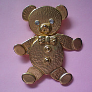 Movable Teddy Bear Pin
