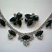 Crystal and Black Rhinestone Demi