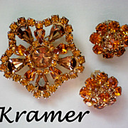 Kramer Amber colored Rhinestone Demi