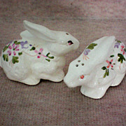 Hand Painted Bunny Salt & Pepper Shakers