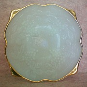 REDUCED Anchor Hocking White Grape Footed Bowl