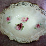 REDUCED La Francaise Porcelain Deep Oval Serving Bowl