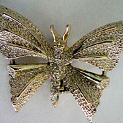 REDUCED Butterfly with Rhinestone Accents by Gerry