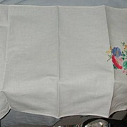 Applique Linen Table Skarf or hand towel