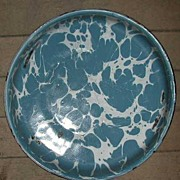 Med Blue Swirl Granite Ware Pie Pan