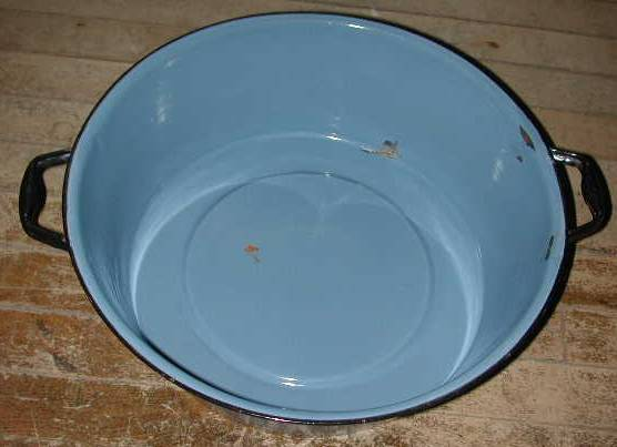 Blue Graniteware Wash pan