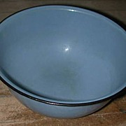 "Blue Graniteware 10"" Nesting Mixing Bowl"