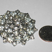 Huge Prong Set Rhinestone Pin