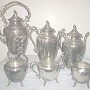6 Piece English Silver on Copper Coffee Set
