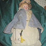 "Metal Headed Cloth Bodied 20"" doll"