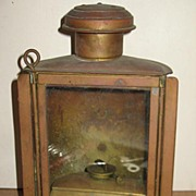 Brass Lantern For Auto or a Ship