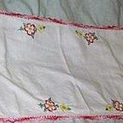 Pink Blue Yellow Embroidered Runner