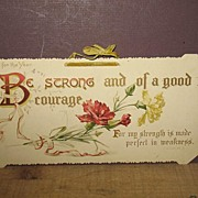 REDUCED 1910 Inspirational Cardboard Wall Sign.