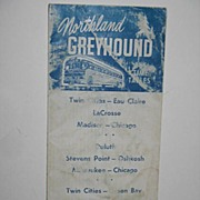 REDUCED 1955 Northland Greyhound Bus Time Tables