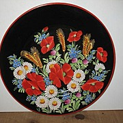 Hand Painted in Czechoslovakia Pottery Plate