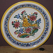 Hand Painted Czechoslovakian Pottery Bowl