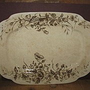 Brown Transferware by J & G Meakin Platter