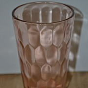SALE Pink Depression Hex Optic or Honey Comb Tumbler