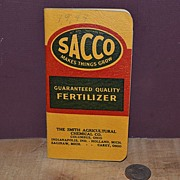 SALE SACCO Notebook Smith Agricultural Chemical Co.