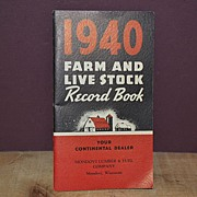 SALE 1940 Farm and Livestock Record Book Mondovi Lumber & Fuel Co.