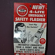 SALE FEDTRO New 4-Lite Emergency Safety Flasher Still on Original Sales Card