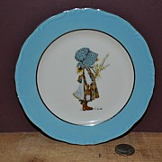SALE Hollie Hobbie Blue Girl Bread and Butter Plate