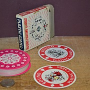 SALE Made in Hong Kong Box of Round Playing Cards